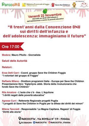 """Settimana dei Diritti: """"A trent'anni dalla Convenzione ONU"""", se ne discute con Raffaela Milano, di Save the Children"""