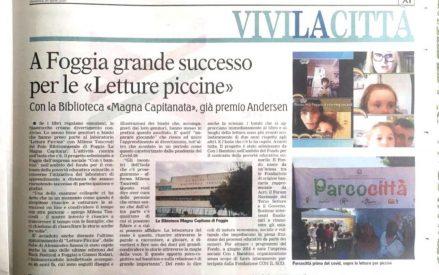 """A Foggia grande successo per le """"Letture piccine"""""""