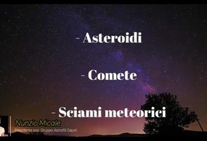 G.A.D. e Parcocittà: alla scoperta di asteroidi, comete e sciami di meteoriti